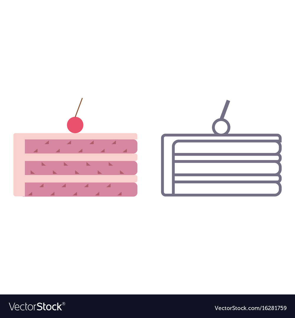 Cake icons on isolated background