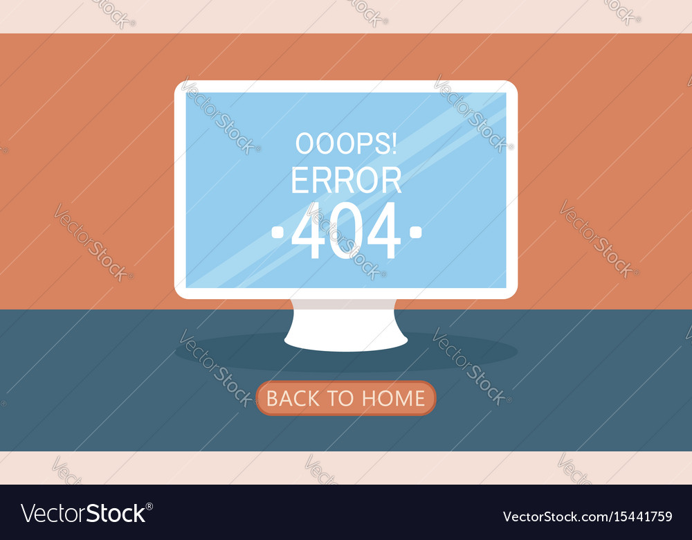 Computer page 404 not found vector image