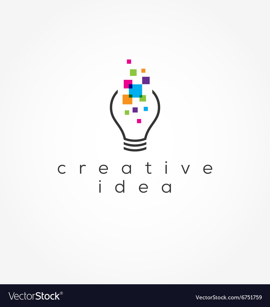 creative idea logo royalty free vector image vectorstock