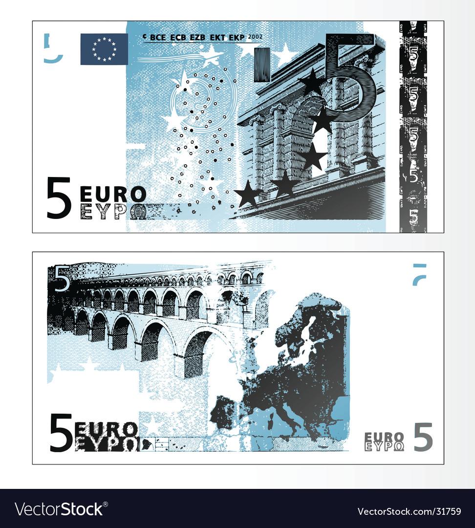 Euro 50 banknote vector image