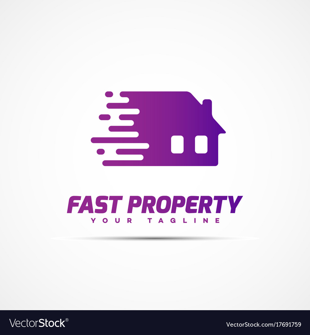 Fast property logo vector image