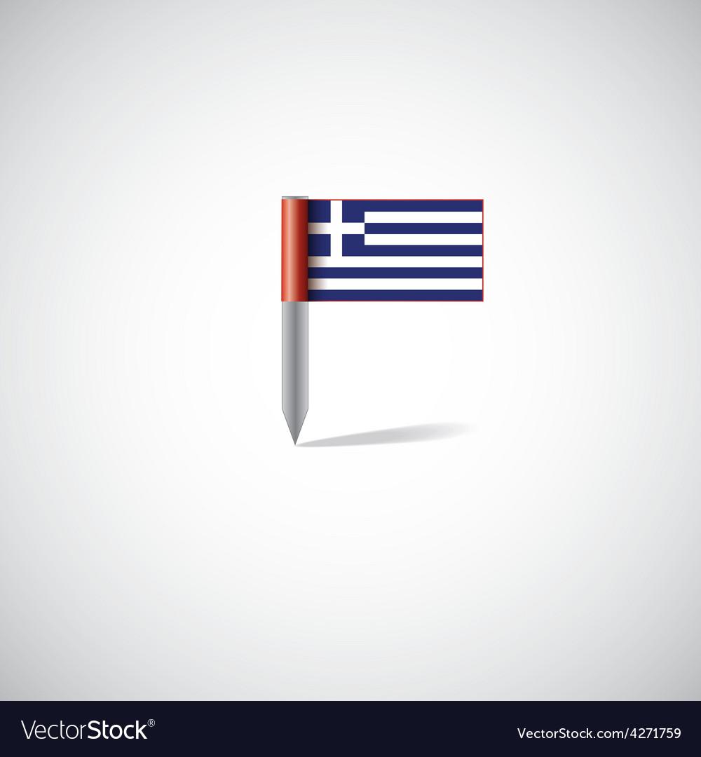 Greece flag pin