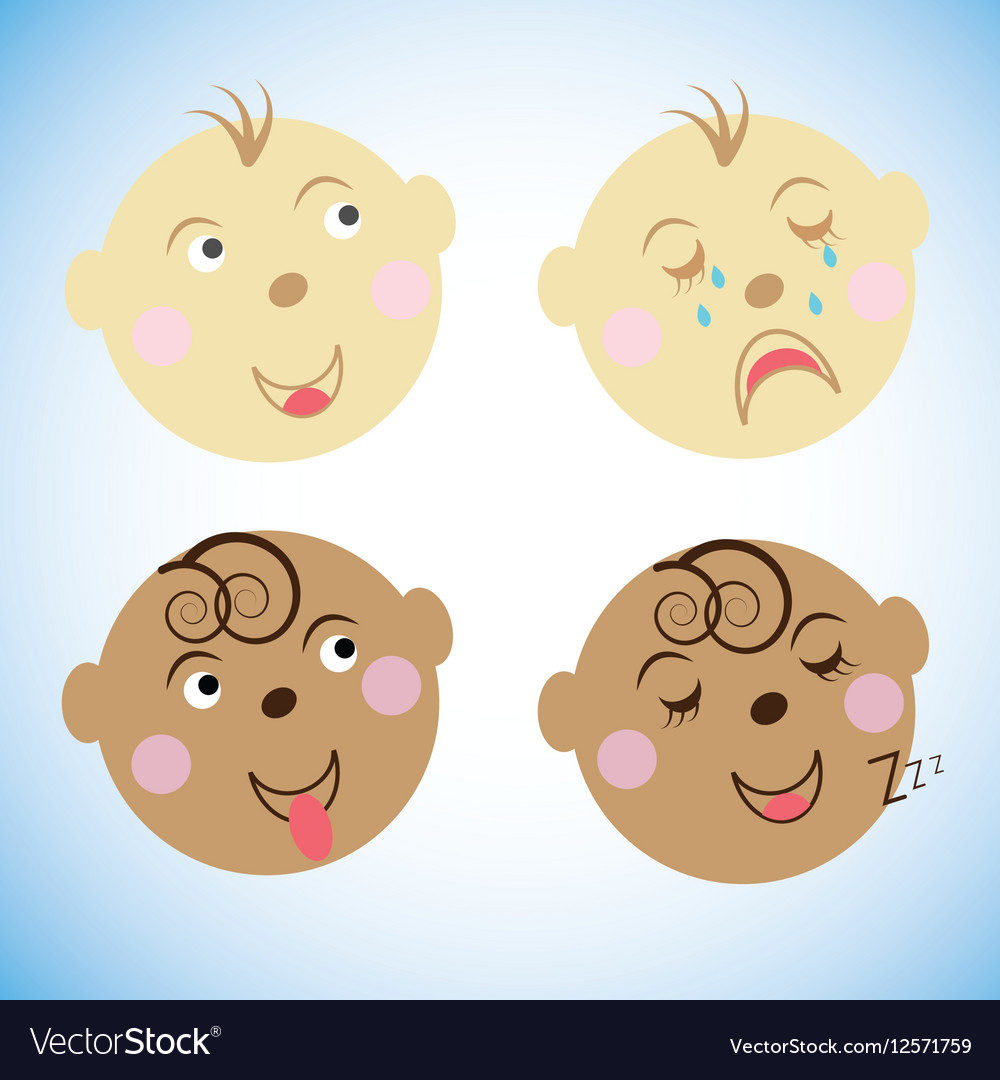 Kids faces childrens emotions