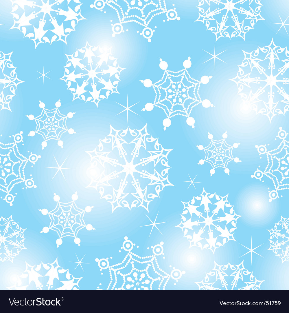 Seamless snow vector image