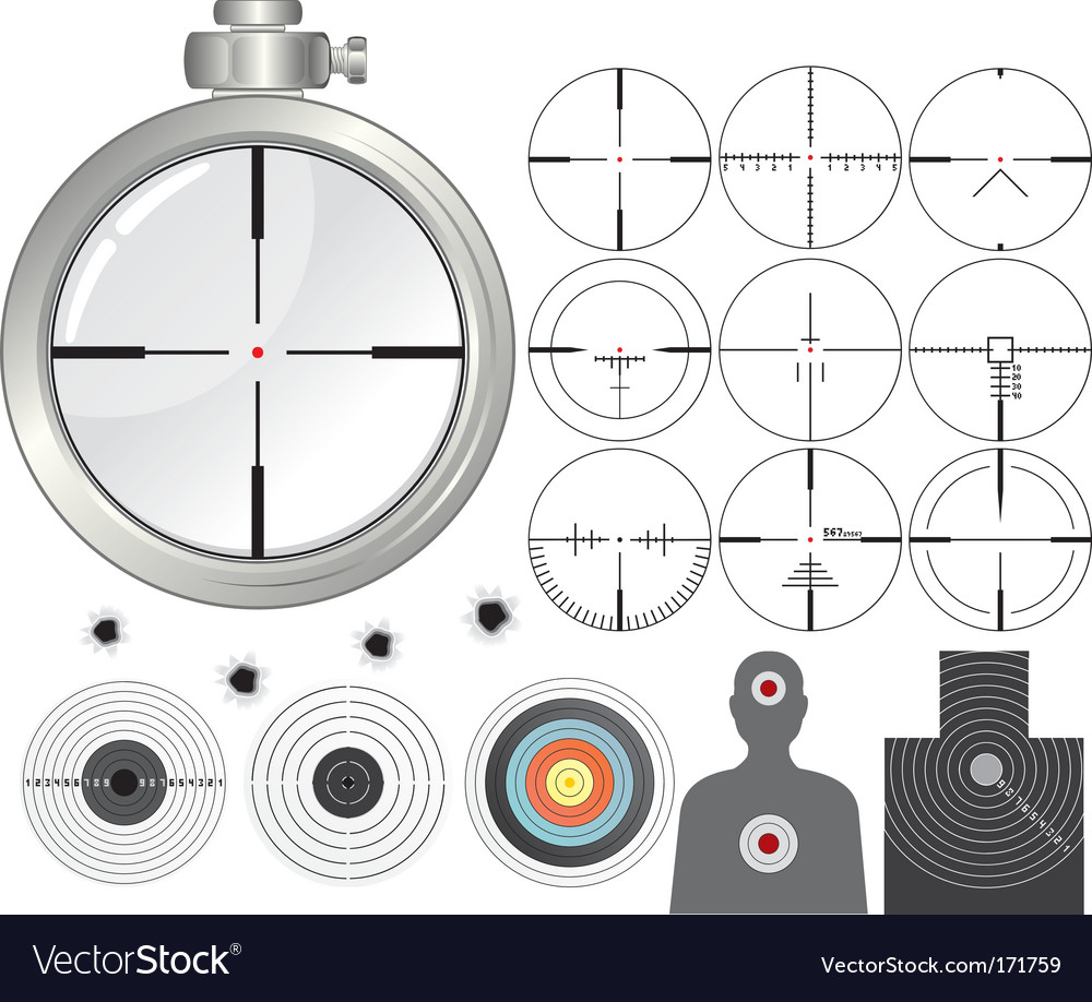 Shooting kit vector image