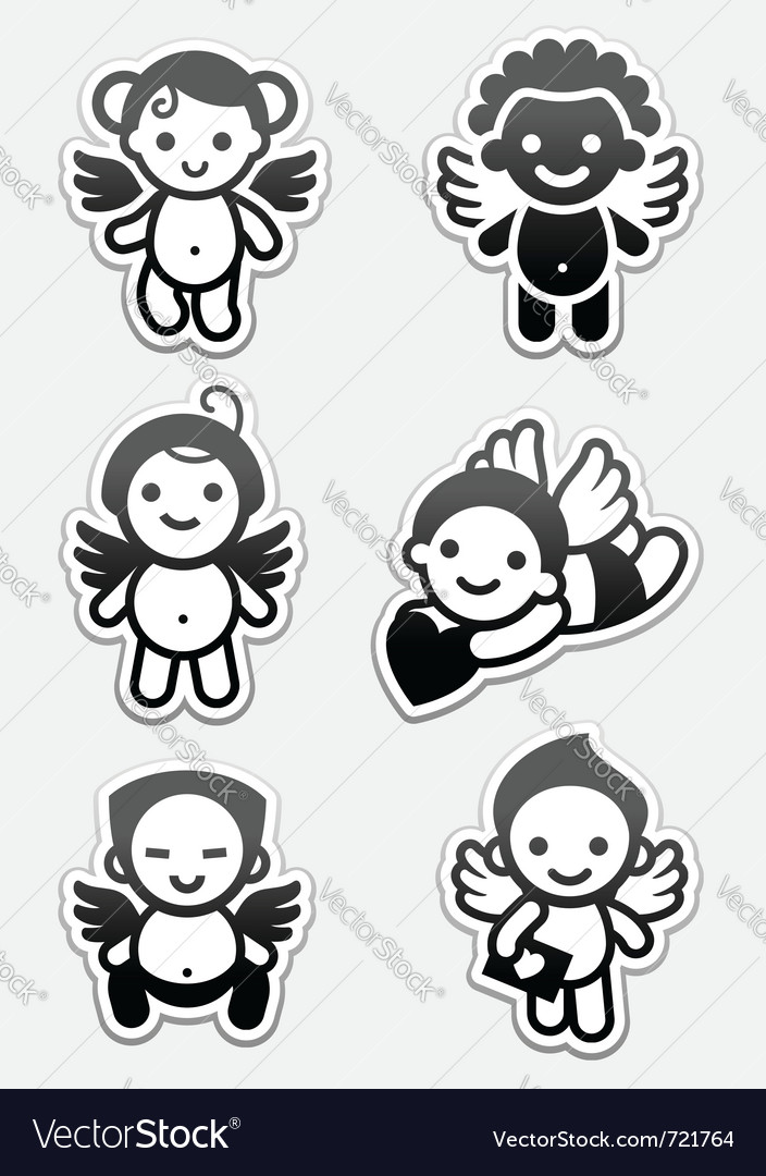 Angel icons and cupids signs