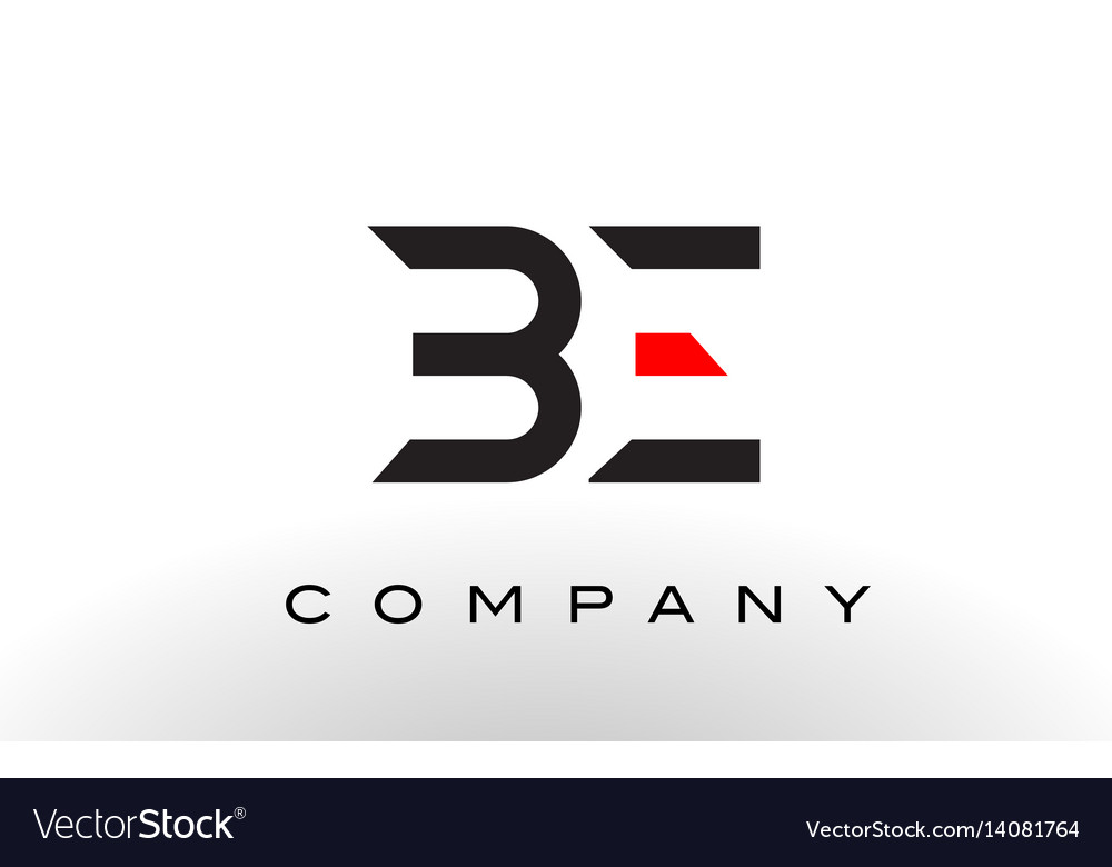 Be logo letter design