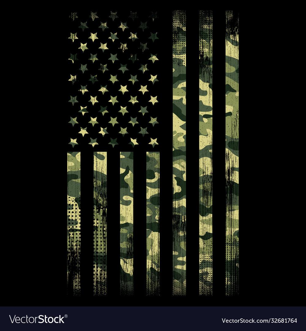 Camo flag - camouflage - usa - american