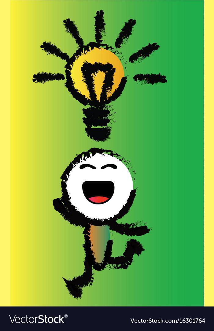 Cartoon happy idea