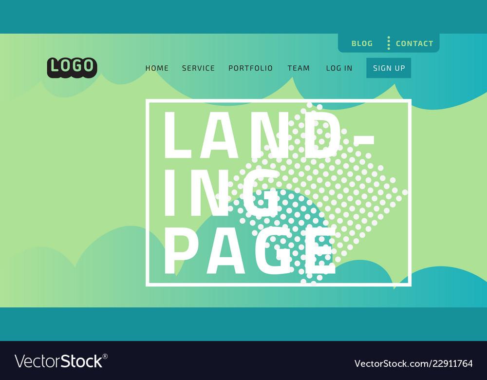 Desktop landing page for web website template