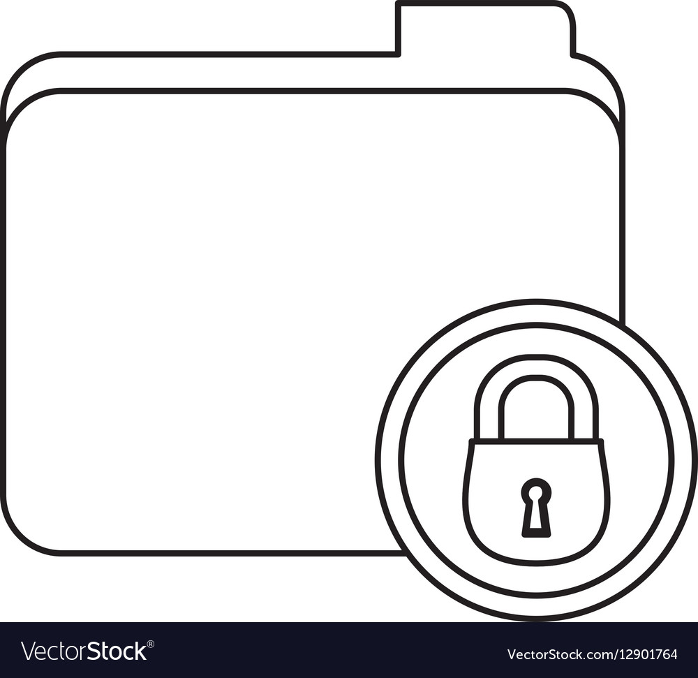 Figure file data center security vector image