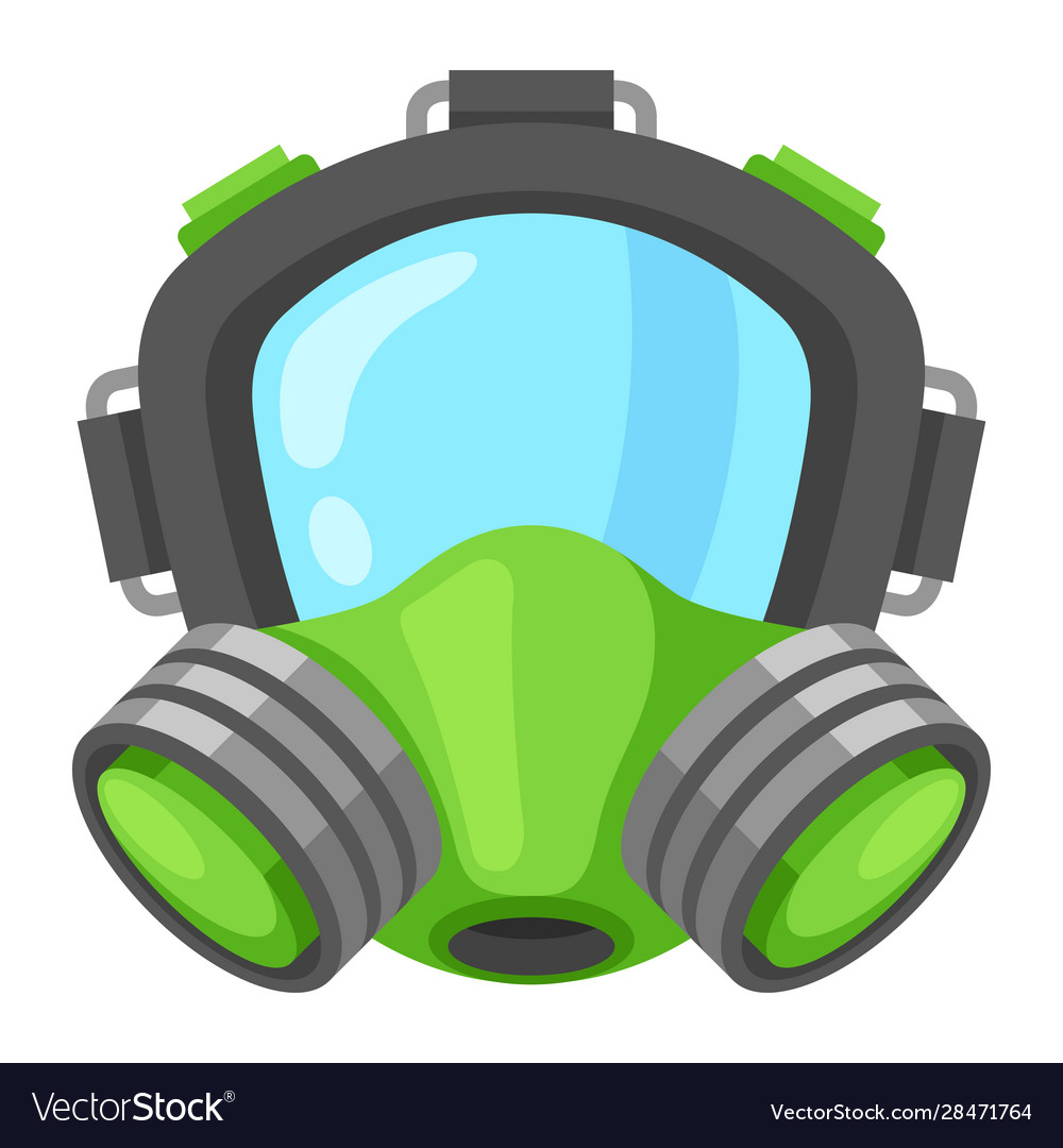 Gas mask icon uniform face protective equipment
