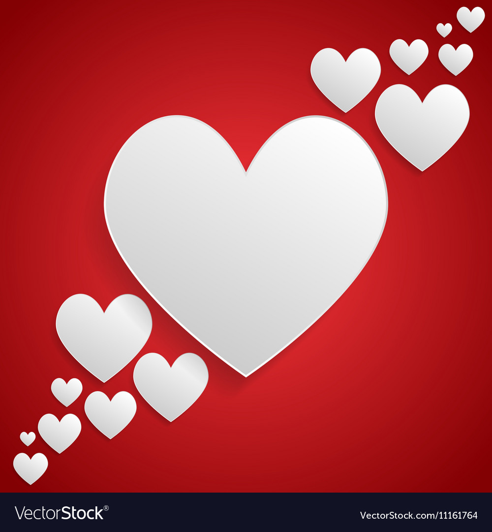 I Love You White Frame Valentines Day Royalty Free Vector