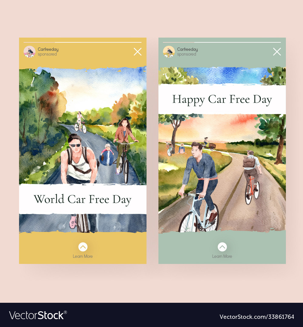 Instagram template with world car free day