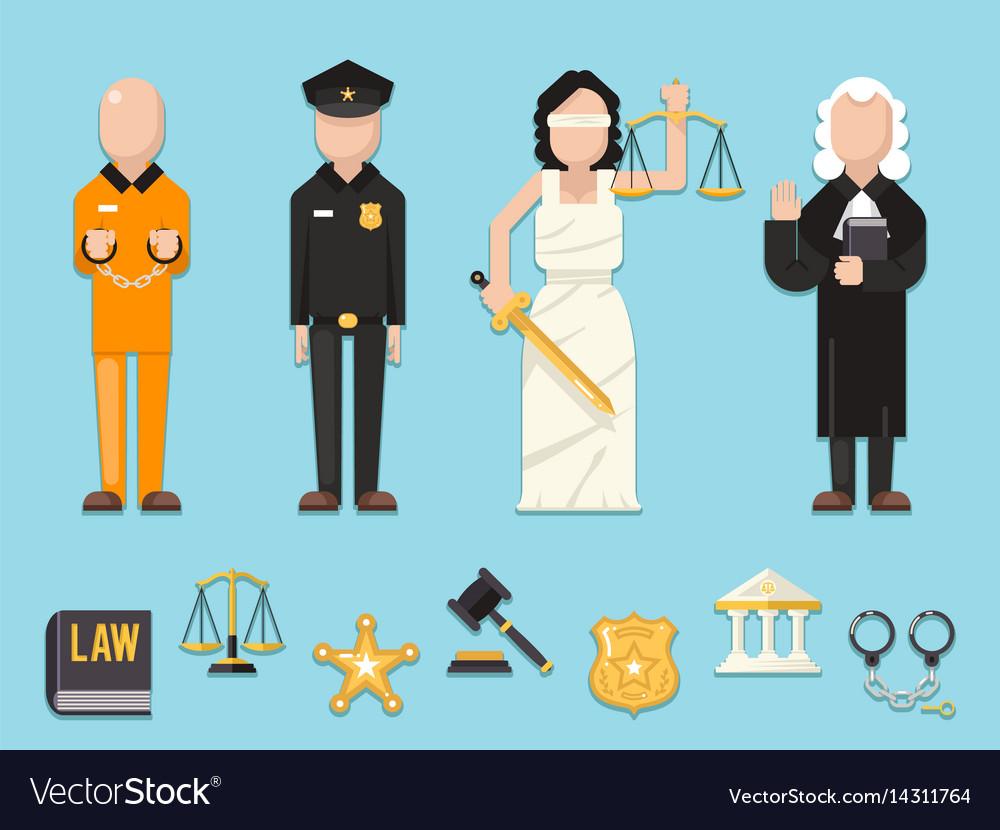 Law justice themis femida scales sword police