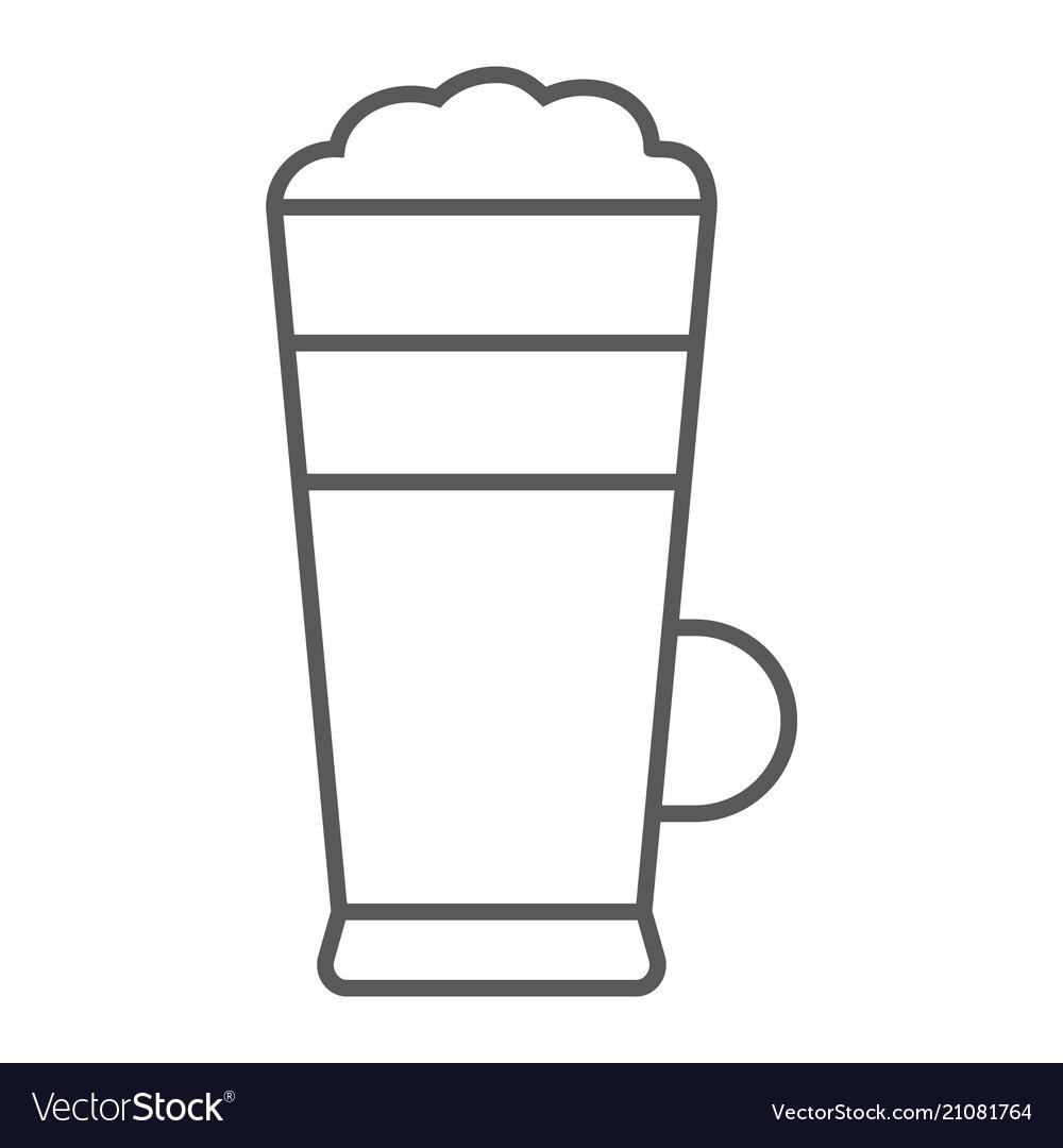 Macchiato thin line icon coffee and cafe