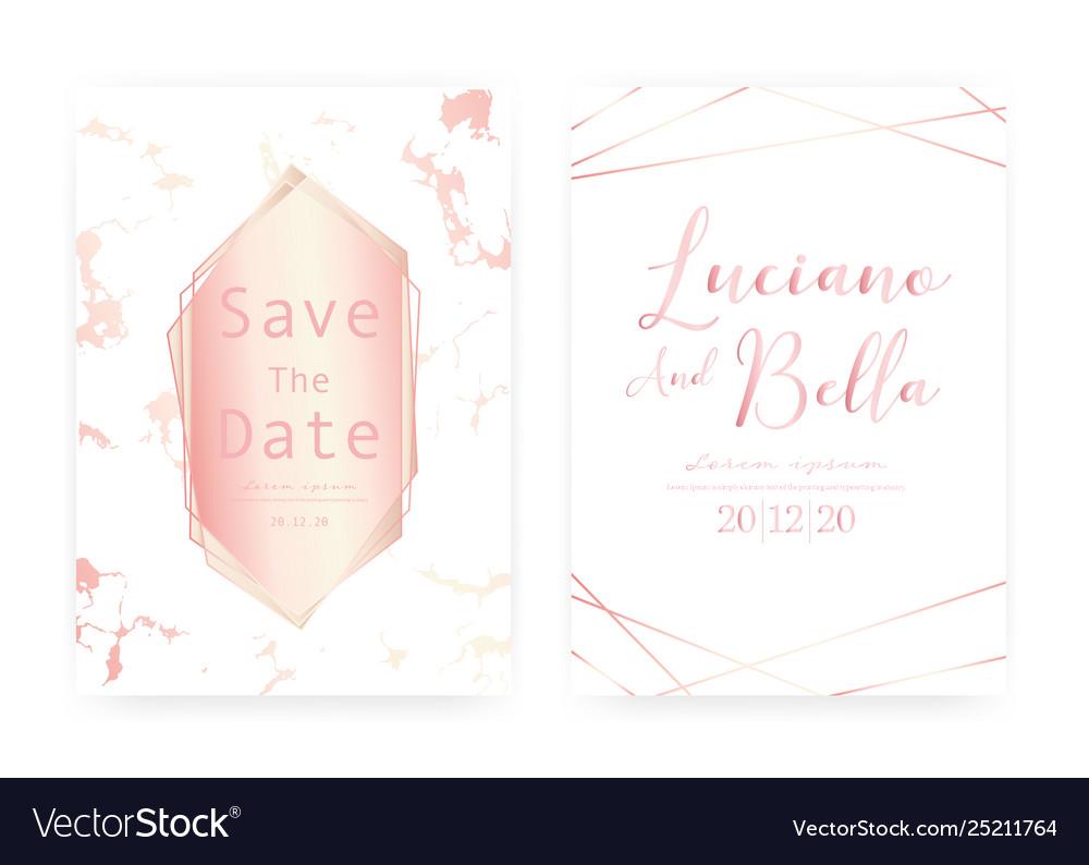 Marble wedding invitation card