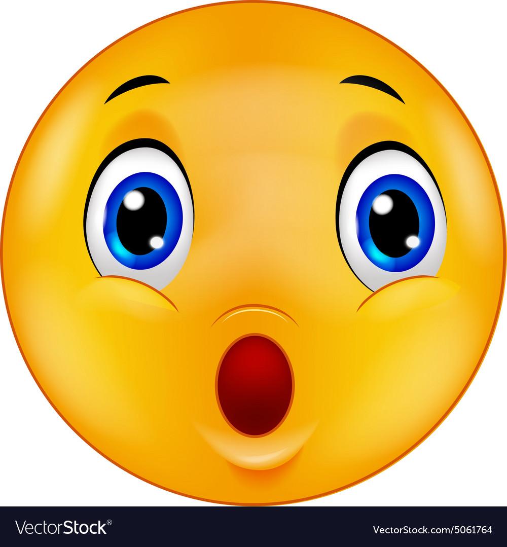Surprised emoticon smiley Royalty Free Vector Image