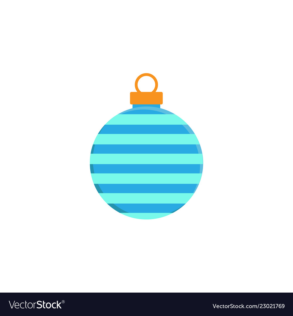 Bauble christmas new year flat icon on white