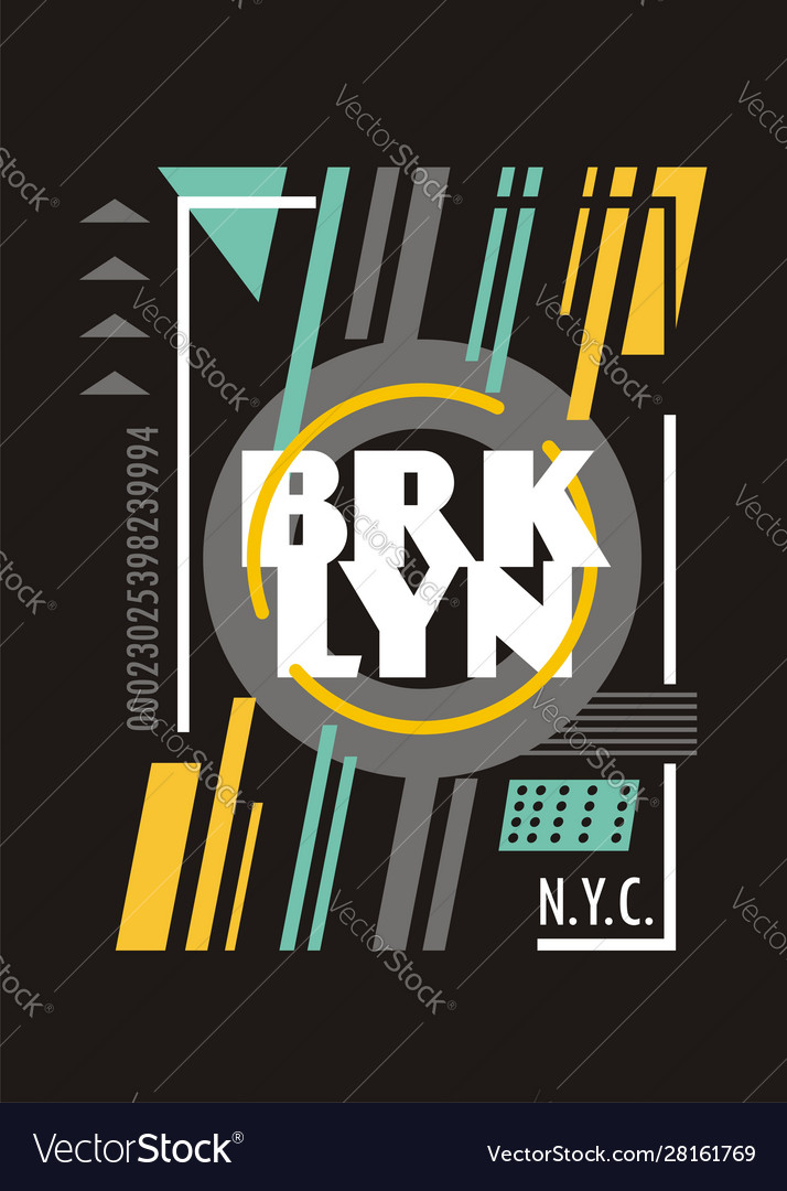 Brooklyn new york city creative t shirt design