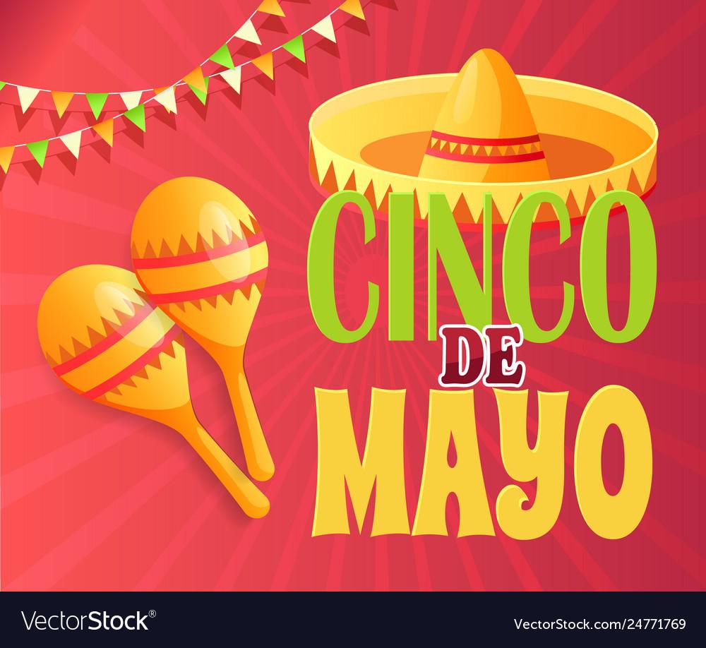Cinco de mayo party invitation poster