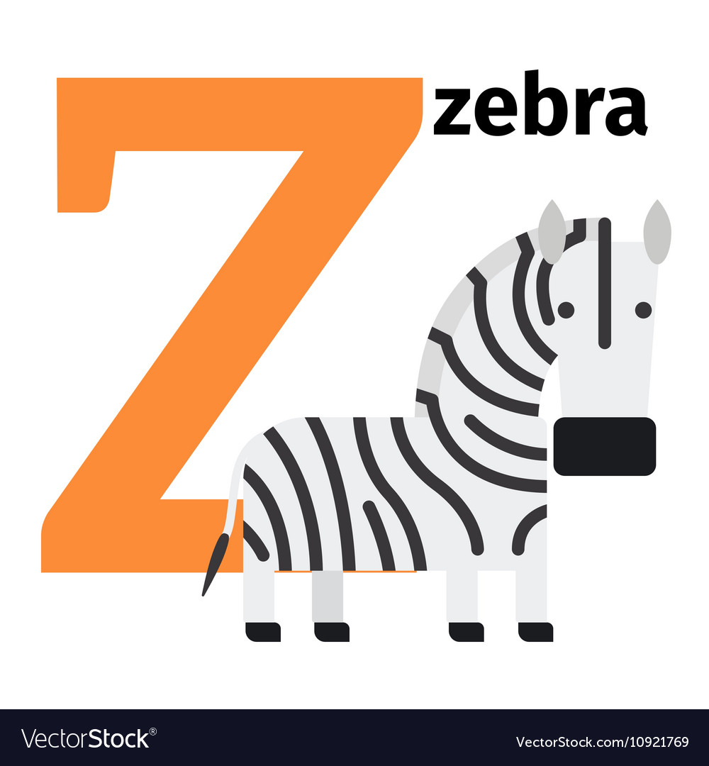 Letter Z Pictures.English Animals Zoo Alphabet Letter Z