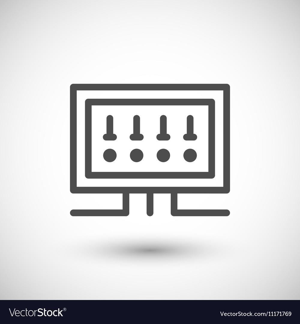 fusebox line icon royalty free vector image vectorstock