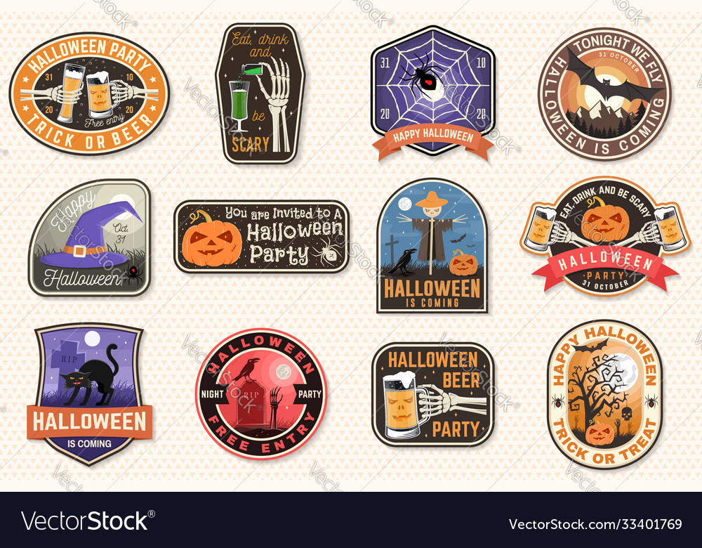 Halloween patches halloween retro badge pin