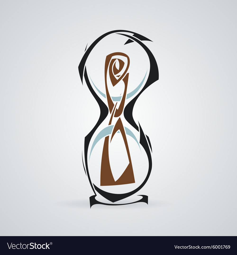 Hourglass Tattoo Tribal vector image