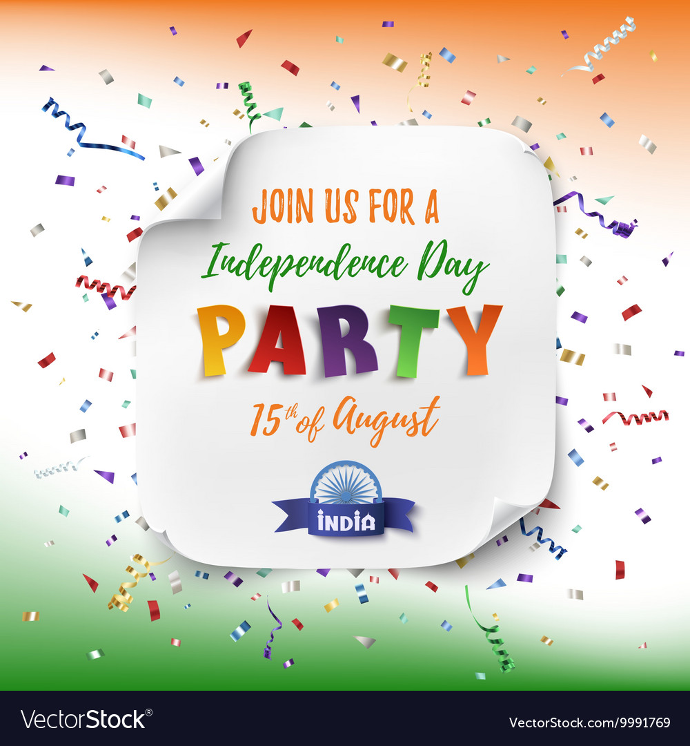 India Independence day party poster