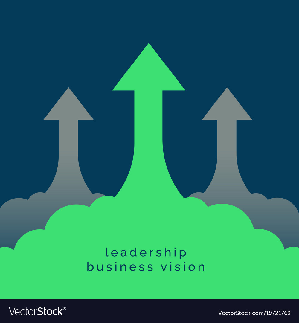 Leadership or growth concept design background vector image