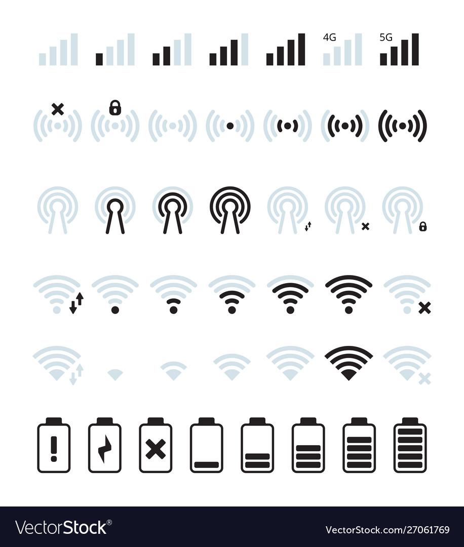 Phone mobile signal wifi and mobile status bar