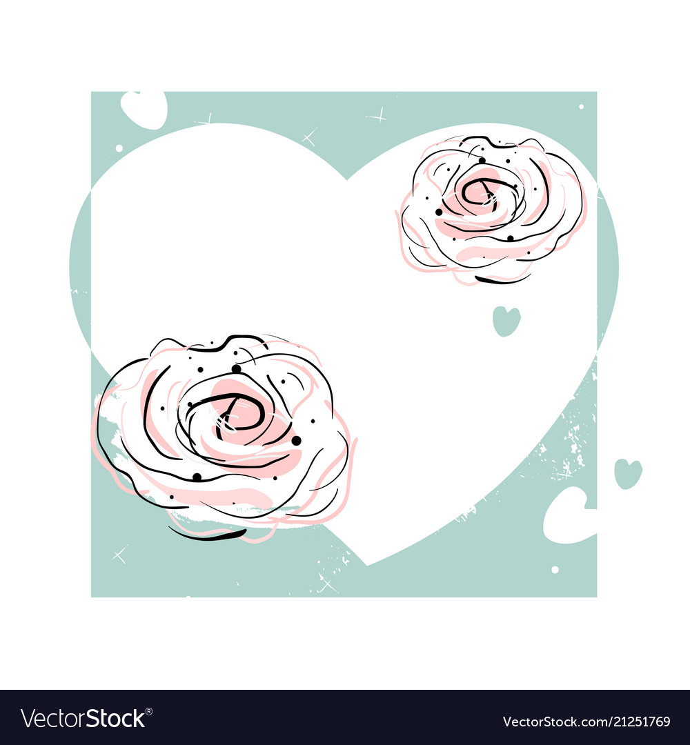Romantic rose border design
