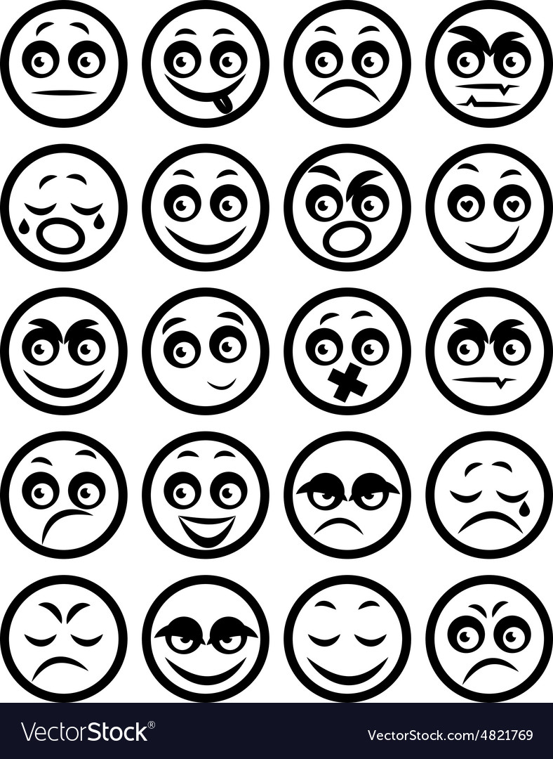 Set of icons smiley faces