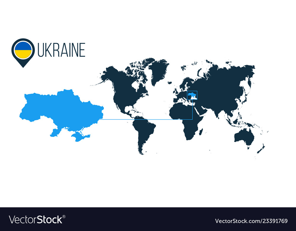 Modern Map Of The World.Ukraine Location Modern Map For Infographics All