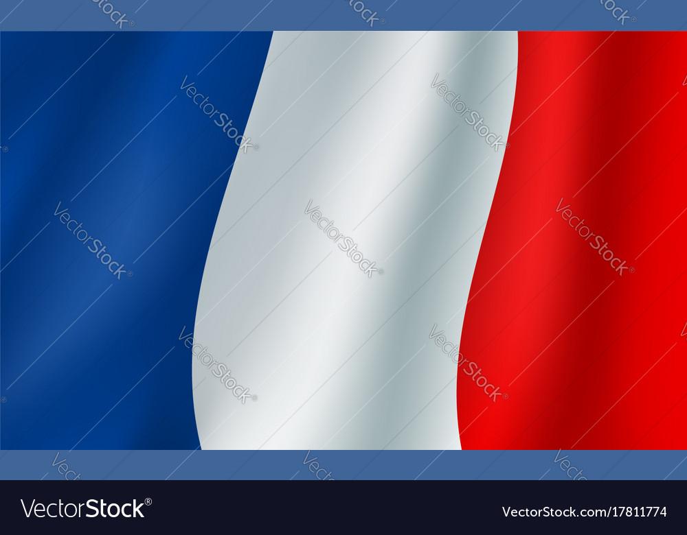 3d Flag Of France French National Symbol Vector Image