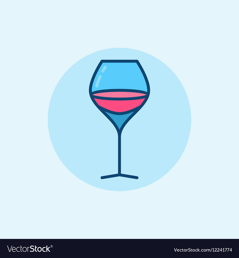 Glass of wine flat icon vector image