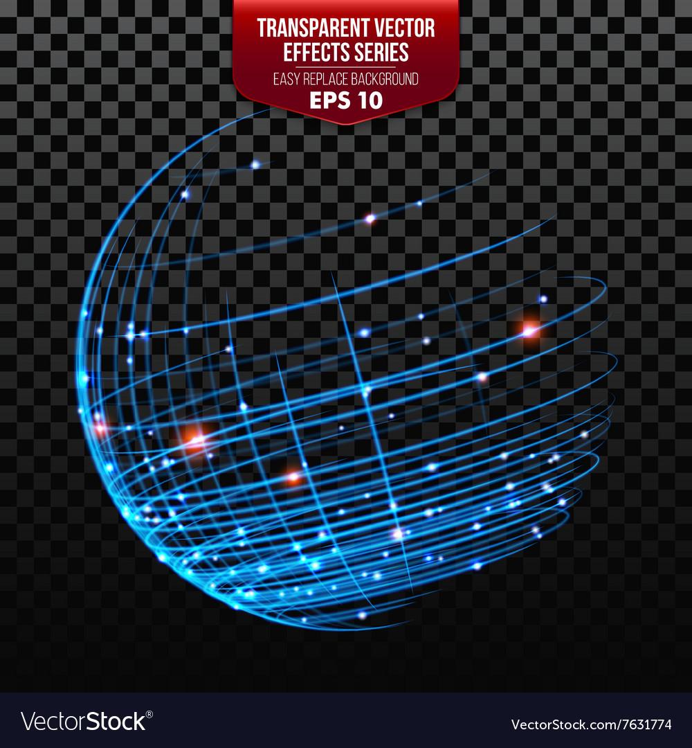 Global Network Wireframe Globe