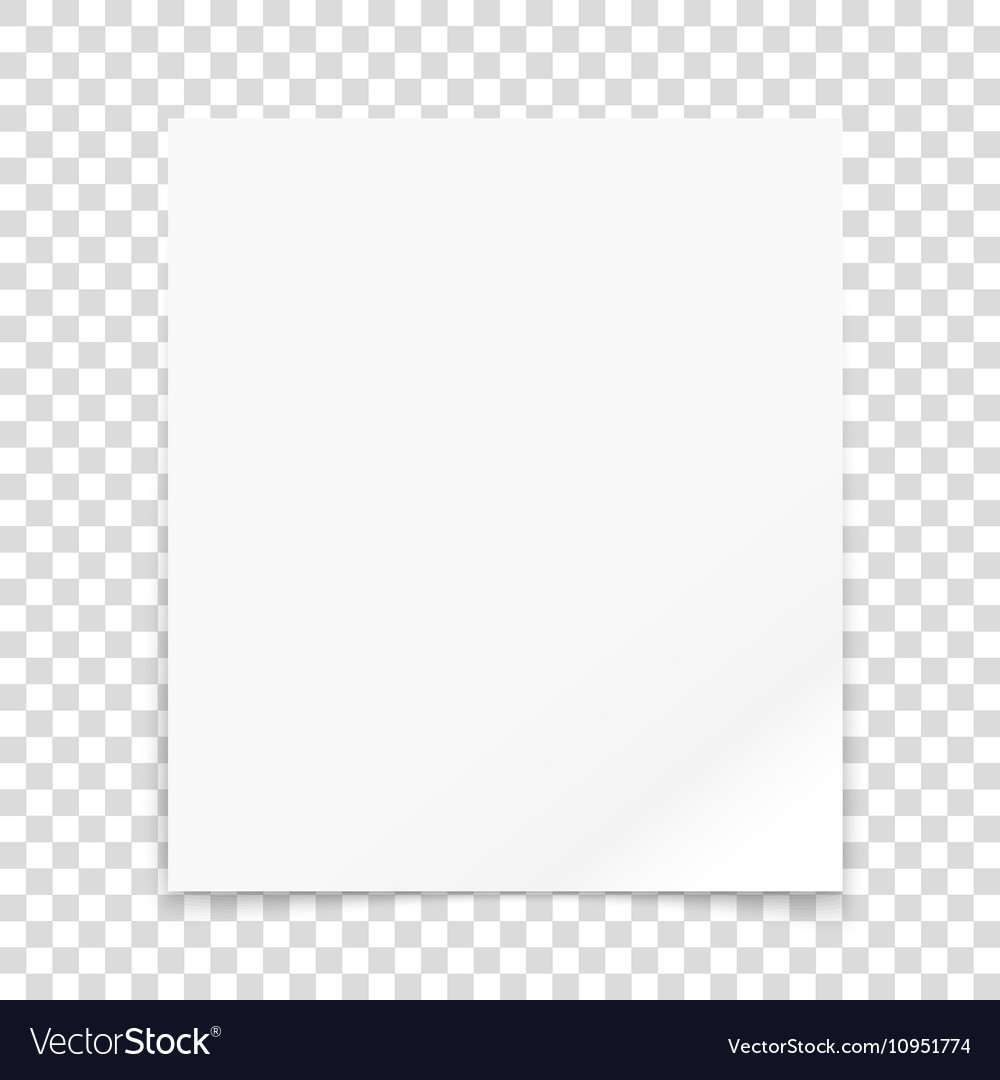 Paper frame isolated on transparent background il Vector Image