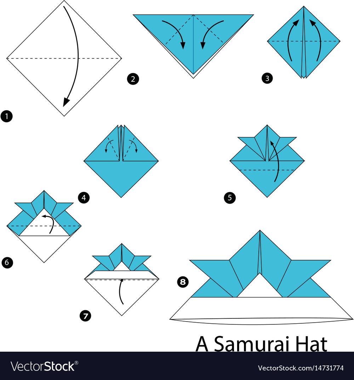 Army cap paper hat origami #tutorial | Origami hat, Paper hat ... | 1073x1000