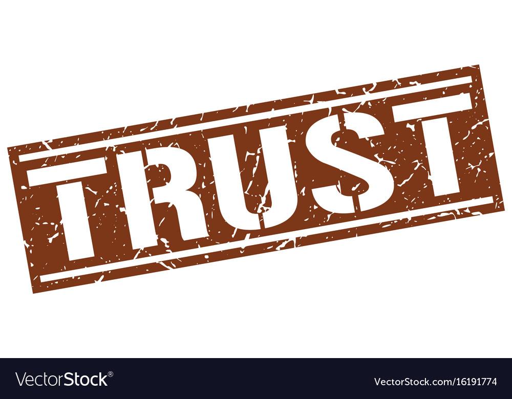 Trust square grunge stamp vector image