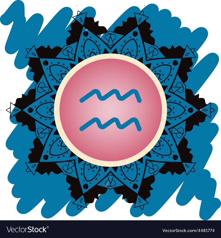 Zodiac Sign Water Bearer Aquarius Royalty Free Vector Image
