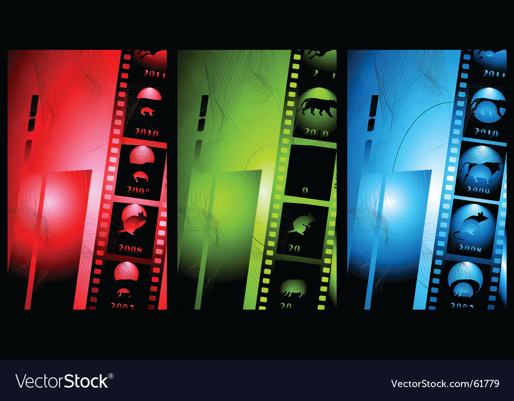 Abstract film vector image
