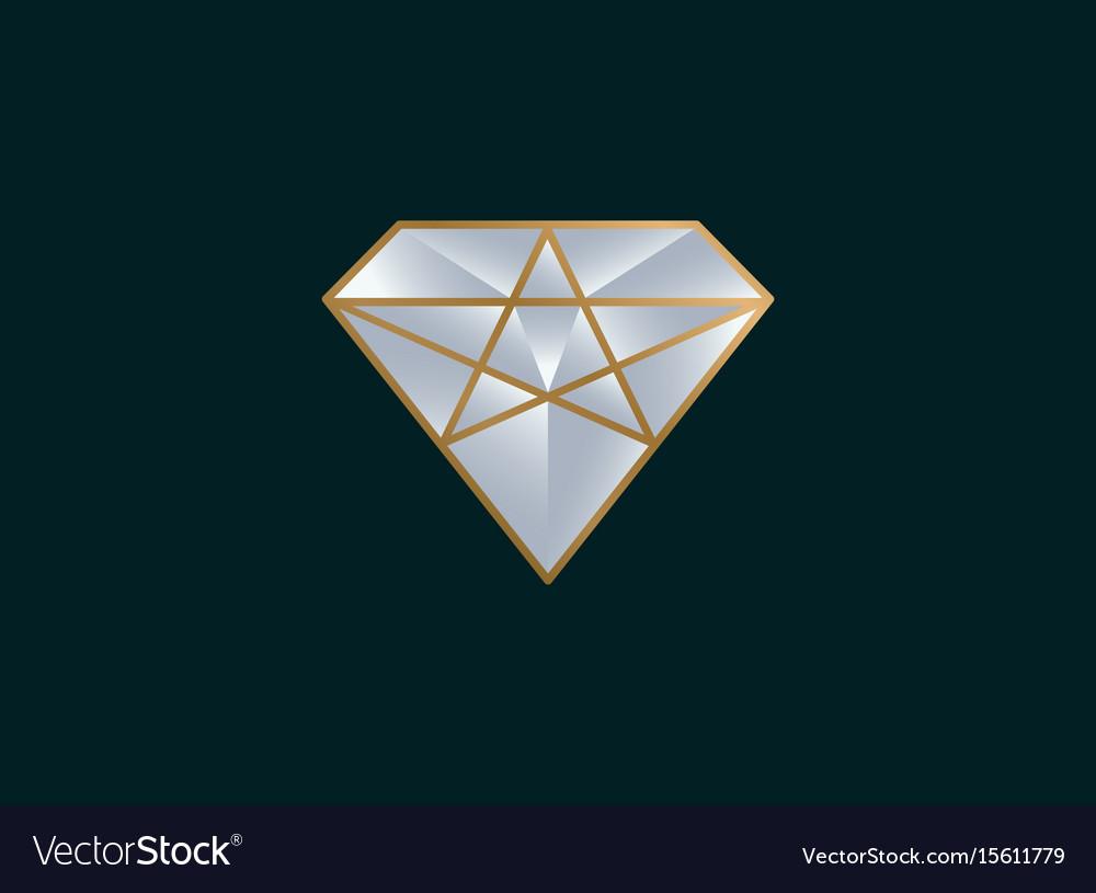 Diamond logo design icon