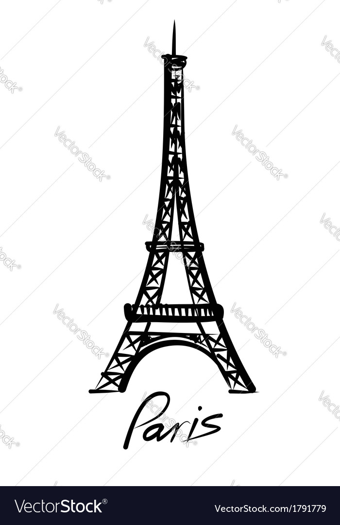 eiffel tower royalty free vector image vectorstock rh vectorstock com eiffel tower vector free download eiffel tower vector free