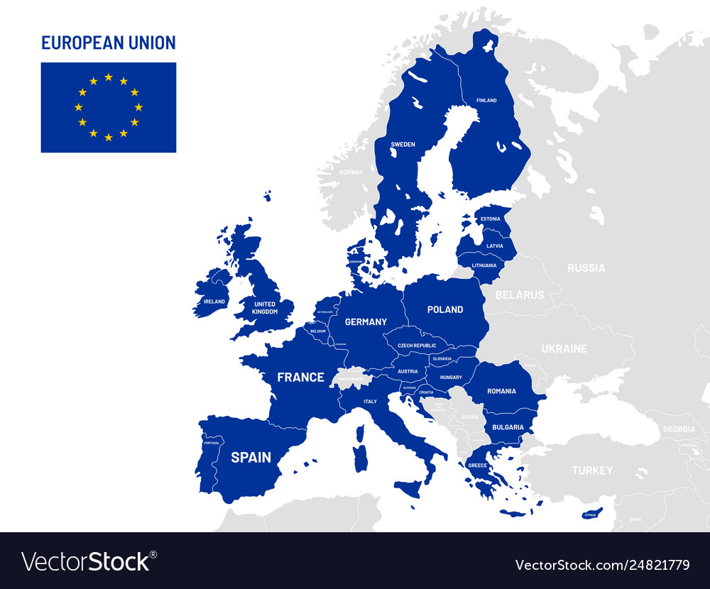 European union countries map eu member country