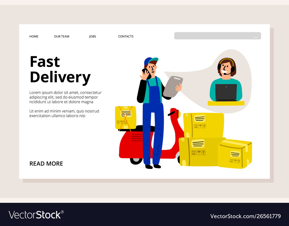 Fast delivery web page
