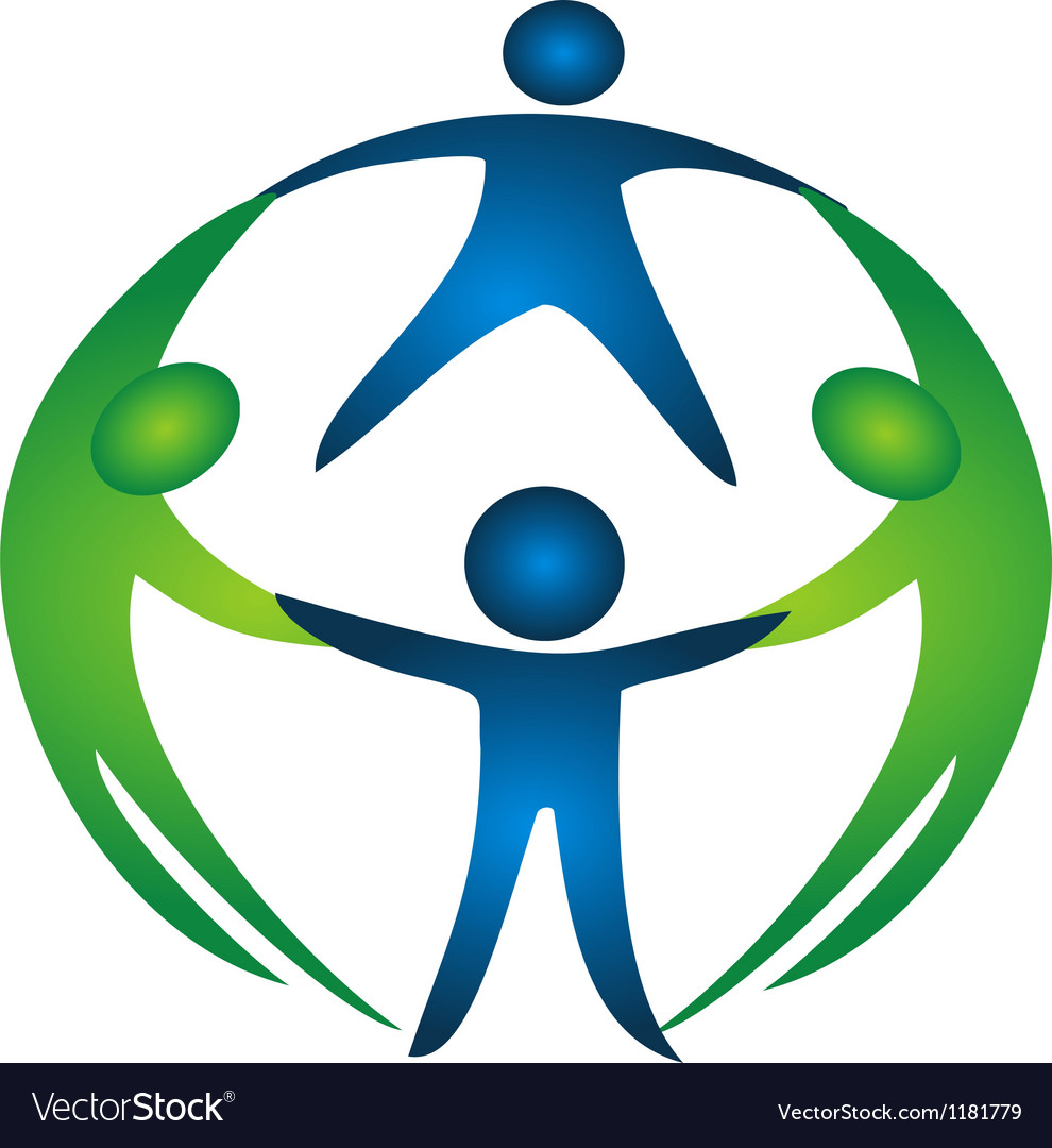 Group of teamwork logo vector image