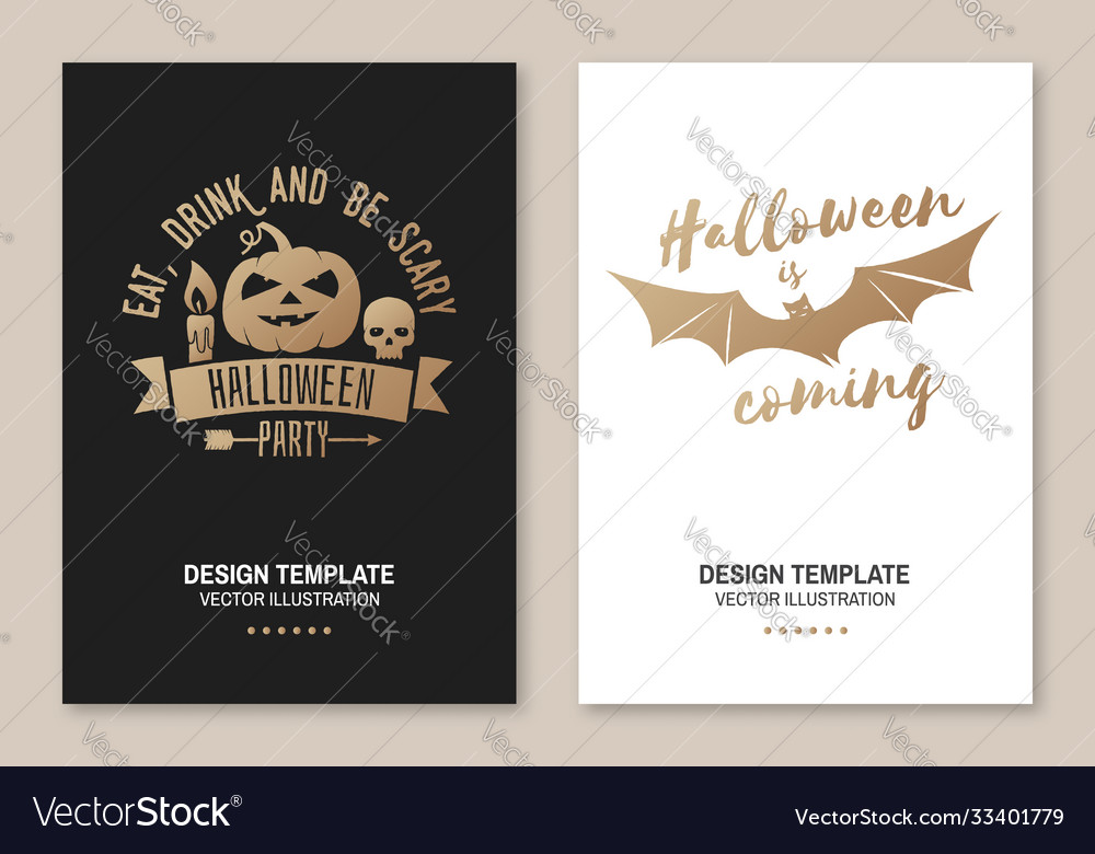 Halloween is coming poster flyer template