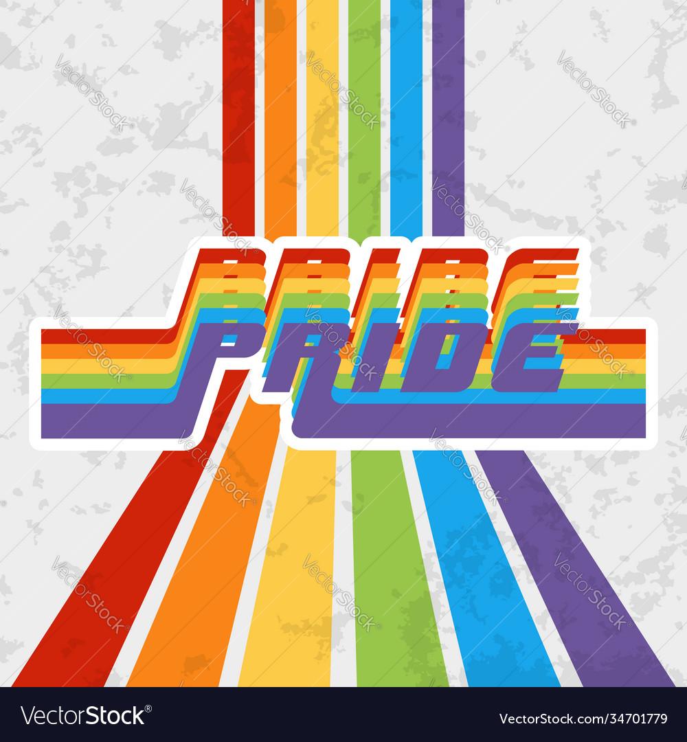 Lgbt pride typography design for poster flyer